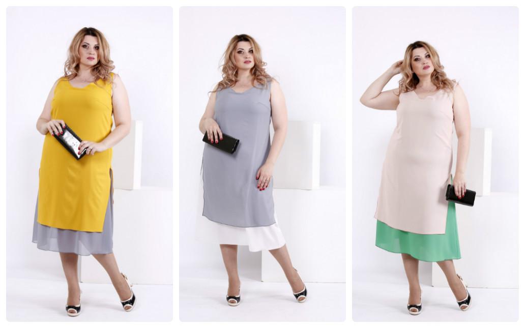 65df7579e8e Шифоновое женское платье королевского размера 60-74