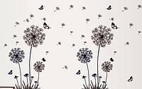 """Интерьерная виниловая наклейка на стену """"Цветы"""""""