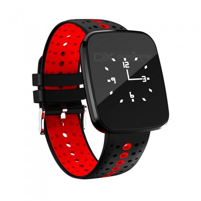 Фитнес-трекер Smart Band V6 Tonometr Черно-красный