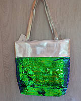 ХИТ 2018-сумки пляжные с пайетками -меняют цвет - ассортимент цветов,ОПТ