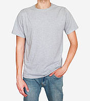 Мужская футболка светло серая меланж 100% хлопок от производителя zomak