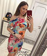 Красивое летнее платье с цветочным принтом , фото 1
