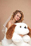 """Большая мягкая игрушка - собачка """"Тузик"""" (белый) 140 см."""