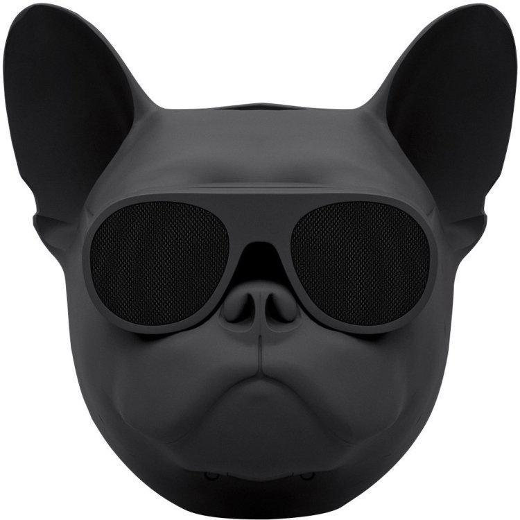 Беспроводная Bluetooth колонка SUNROZ Aerobull Dog Chrome Black (SUN01