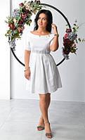 Белое платье свободного фасона