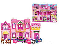 Дом с мебелью для кукол большой