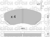 Колодки тормозные MITSUBISHI GALANT/SPACERUNNER передние (Cifam). 822-481-0