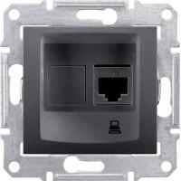 SDN4300170 Розетка комп'ютерна RJ45 кат.5е UTP, 1-гніздо, графіт Schneider Electric Sedna