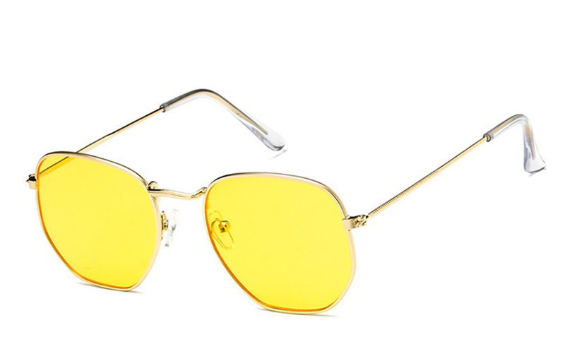 e2a6ee295dfc Солнцезащитные геометрические очки с цветной линзой Желтый -