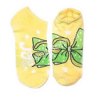 Детские носки 30-32 желтые с бантиками