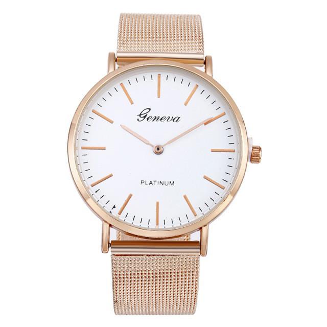 45673e4bf99f Классические женские часы GENEVA STEEL WHITE GOLD - купить по лучшей ...