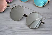 Солнцезащитные очки кошка тишейды большие Белый хром