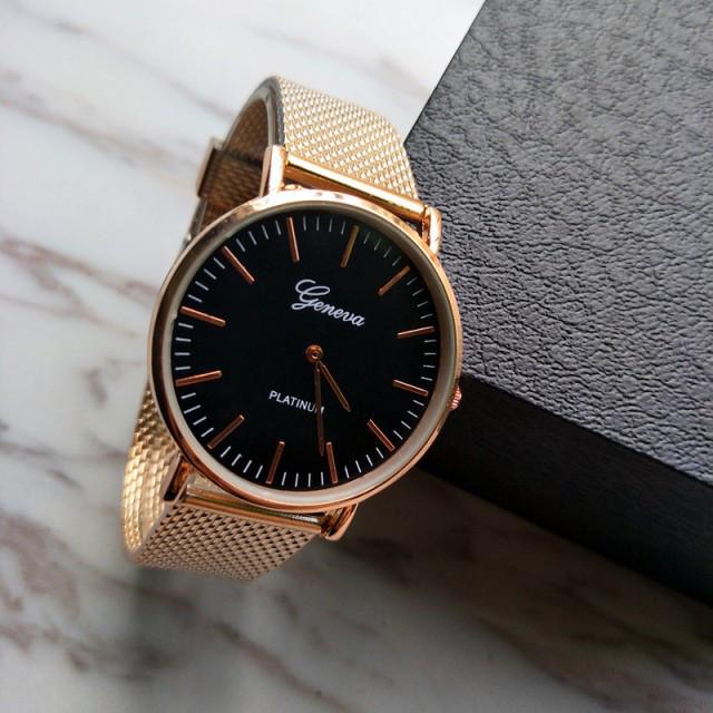 Классические женские часы GENEVA STEEL GOLD