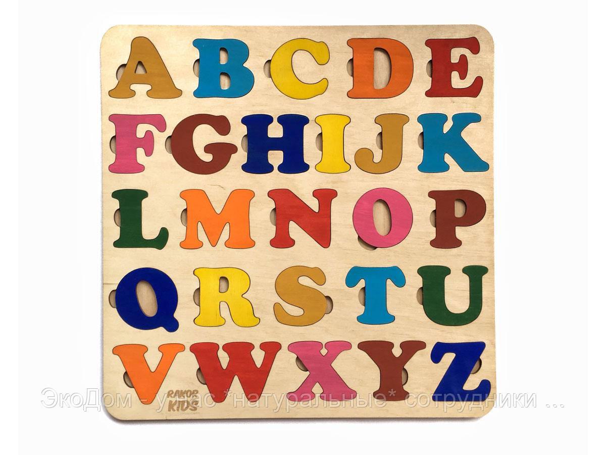 Пазл  азбука английская цветная