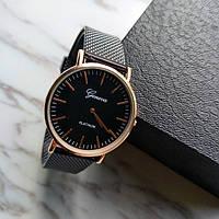 Классические женские часы GENEVA STEEL BLACK