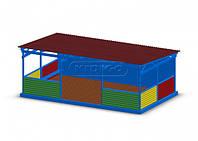 Навес для садиков VMNA001 из натуральных материалов (павильон р. 8х5х3,05 м) ТМ KIDIGO VMNA001
