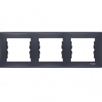 SDN5800570 Рамка на 3 поста горизонтальная, графит Schneider Electric Sedna