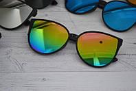 Солнцезащитные женские очки кошка крупные Мультиколор