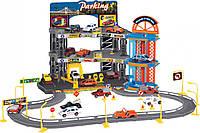 Игровой набор City Parking Парковка с лифтом и треком, 6 машинок, Dave Toy
