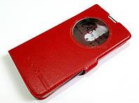 Чехол книжка с окошком momax для LG L Bello / L Prime d331 / d335 / d337 красный