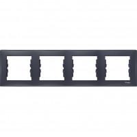 SDN5800770 Рамка на 4 поста горизонтальна графіт Schneider Electric Sedna