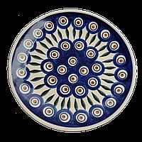 Тарелка десертная, закусочная керамическая Ø19 Перо павлина