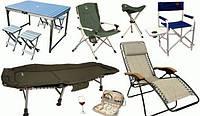 Мебель для отдыха, шезлонги, раскладушки, столы, кресла, стулья.