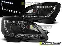 Передние фары тюнинг оптика Mercedes W204 до рестайлинг
