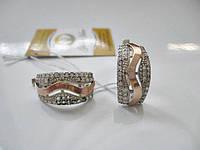 Сережки Серебро 925  с Золотом 5.66 грамма, фото 1