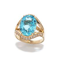 Золотое кольцо с топазом 2280155