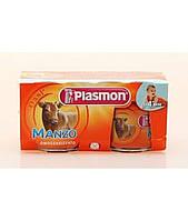 Пюре Plasmon Manzo от 4 мес. 3х80гр