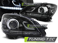 Передние фары тюнинг оптика Mercedes W204