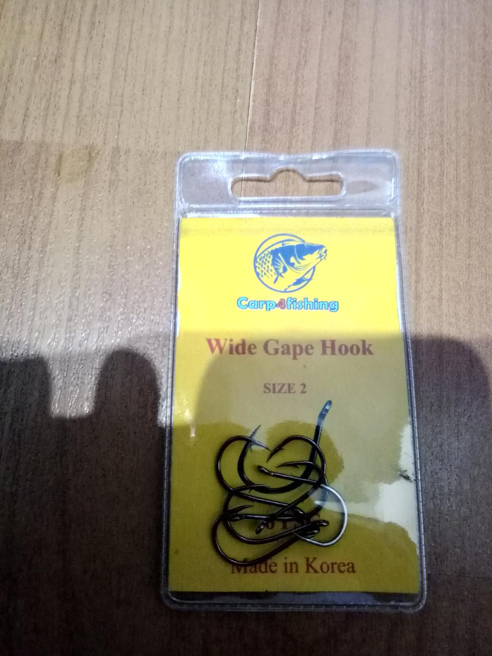 Carp4fishing карповые крючки Wide Gape Hook  №2