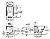 Комплект: ROCA GAP Rimless подвесной унитаз с сиденьем slow-closing ,Geberit Duofix, клавиша, фото 3