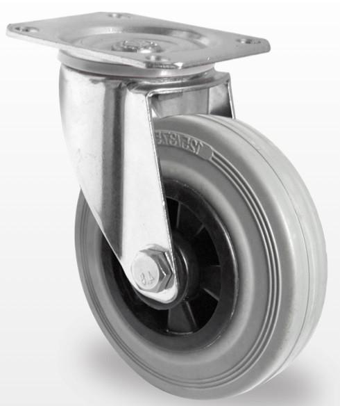 Колеса и ролики из стандартной серой резины с полипропиленовым центром (серия 40)