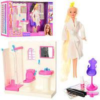 Мебель 68027 12шт ванная комната 30-30-10см, кукла29смдл.вол, крас для вол, аксесс, кор, 60-33-11см