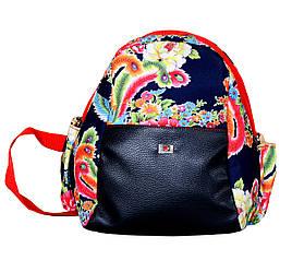 Яркий рюкзак малого размера из кожзама.