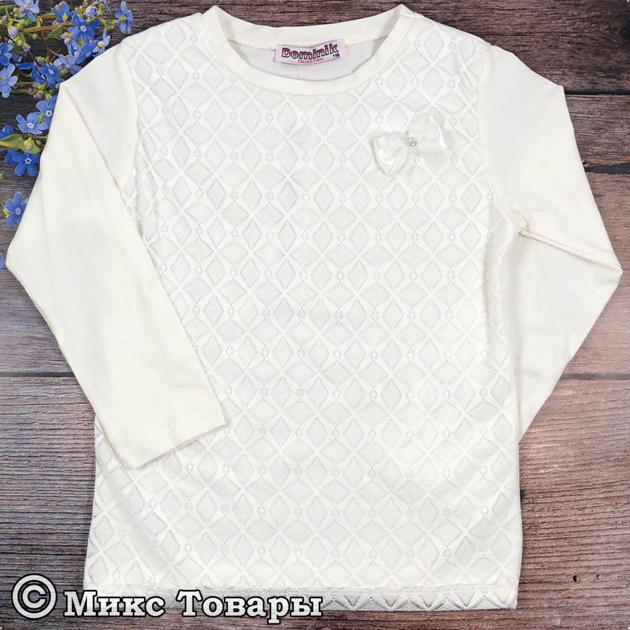 Блузка молочного цвета для девочек Размеры:116-128-140-152-164 см (6672-2)
