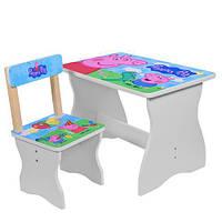 Детский комплект стол + стул свинка Пеппа 504