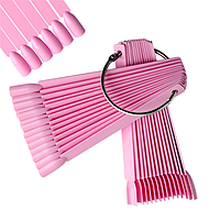 Палитра веерная  для гель лака, розовая, 50 шт/упак