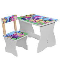 Детский комплект стол + стул my little pony