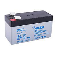 Аккумулятор свинцово-кислотный Merlion GP1213F1, 12V / 1.3A, фото 1
