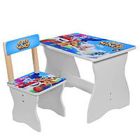 Детский комплект стол + стул super wings 504