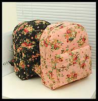 Рюкзак женский, школьный, городской с цветами.