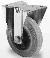 Неповоротное колесо диаметром 100 мм из серой резины