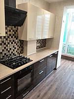 Кухня кремового цвета верхние фасады мдф