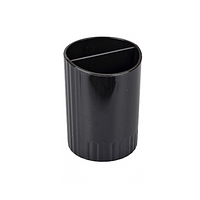 Стакан пластиковый 2 отделения Чёрный