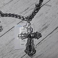 Крест серебряный с распятием, чернение