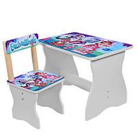 Детский комплект стол + стул enchantimals 504