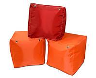 Красный пуфик кубик 35*35*35 см из ткани Оксфорд